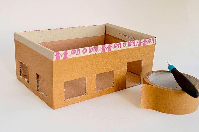 Планирование будущего жилища из картонной коробки