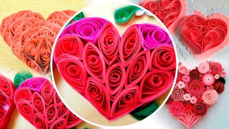 Валентинка-сердечко выполненная в технике «квиллинга»