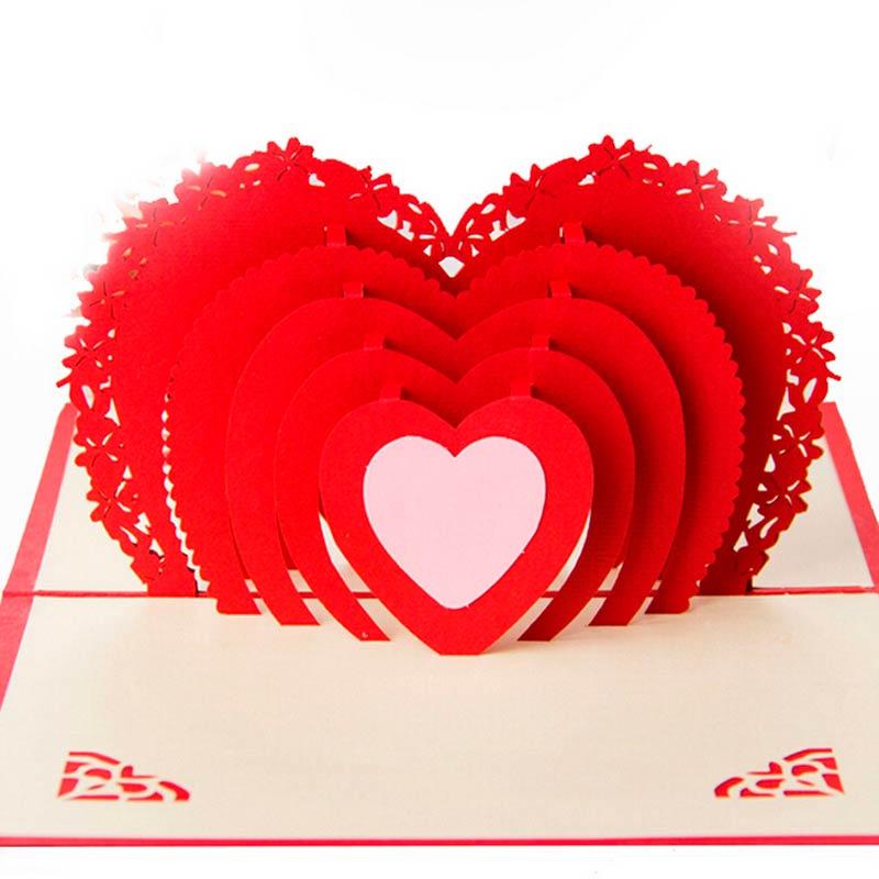 Объёмная открытка в технике «киригами»
