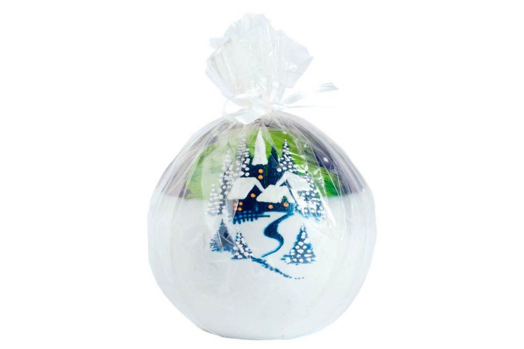 Шар набитый сладостями и завёрнутый в красивую двойную упаковку