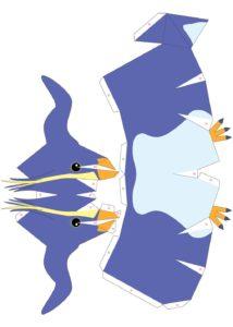 Шаблон пингвинчика для вырезания
