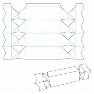 Шаблон для вырезания конфет из картона