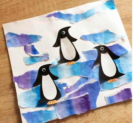 Аппликации пингвина