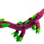 Динозавр из модулей оригами