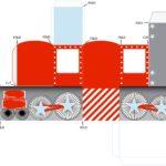 Шаблон паровоза для вырезания