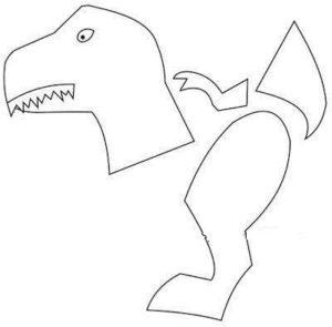 Шаблон динозаврика