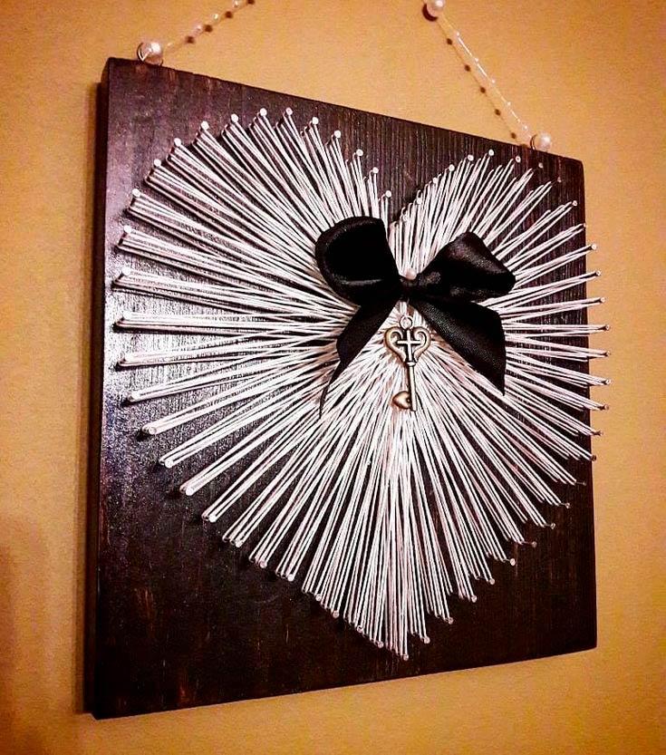 Панно «Серебряное сердце»
