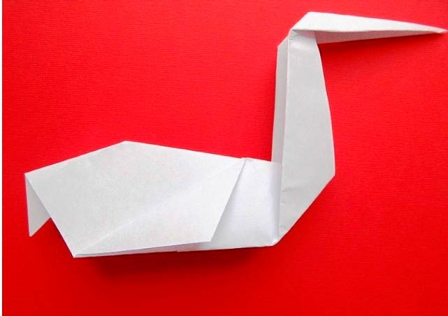 Оригами аист