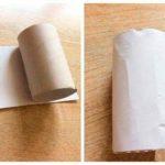 Гномик из втулки от туалетной бумаги