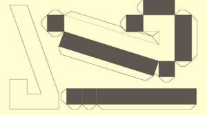 Объемная цифра семь шаблон для вырезания и склеивания