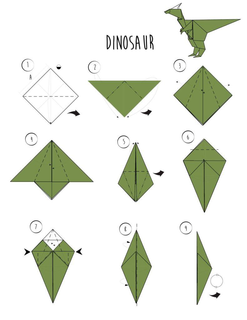 Схема сборки динозавра