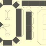 Объемная цифра 9/6 шаблон для вырезания и склеивания