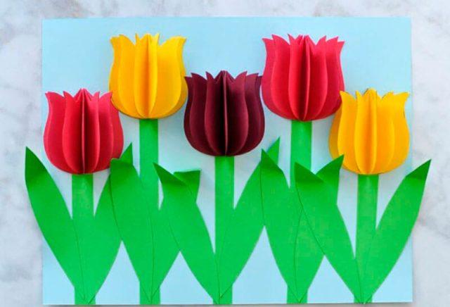 Аппшликация тюльпанов