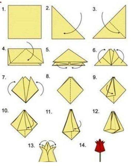 Оригами тюлоьпан