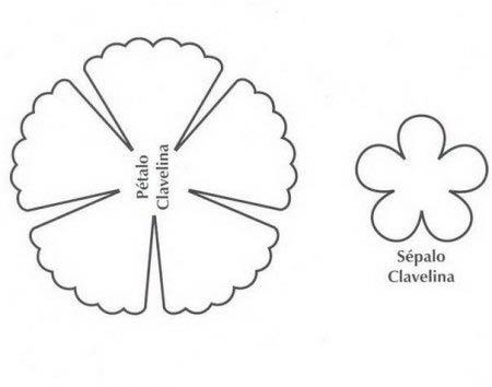 Цветок гвоздики, шаблон, раскраска