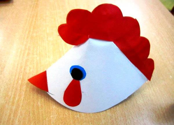 Маска-шапочка курицы