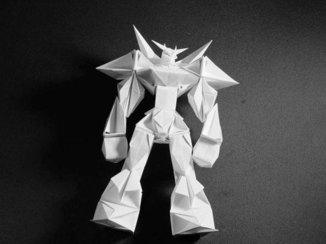 Объёмный киборг оригами
