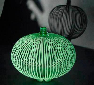 Китайский фонарик из бутылки