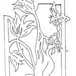 Тюльпан киригами, схема