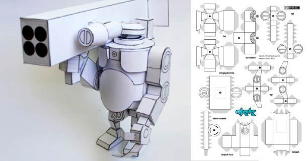 Схема сборки межгалактического робота