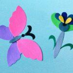 Бабочка из бархатной бумаги