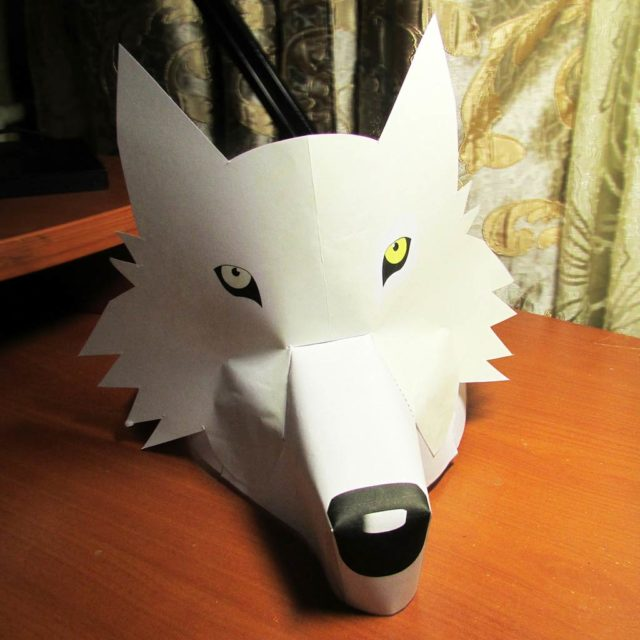 Маска волка бумажная