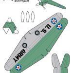 Модель, шаблон самолета из бумаги п 408 №2
