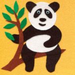 Панда из бархатной бумаги