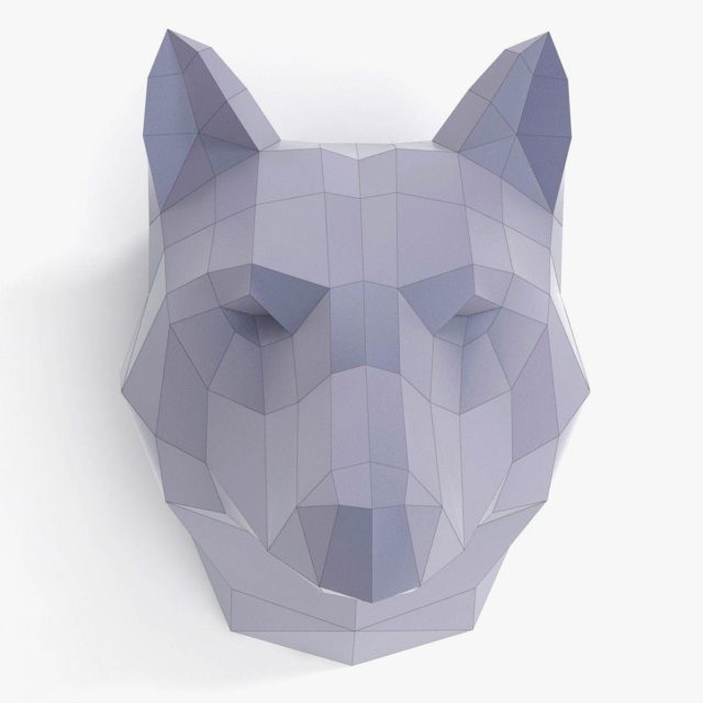 Объемная голова волка