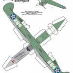 Модель, шаблон самолета из бумаги п 408 №1