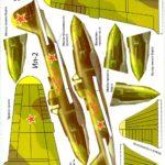 Модель, шаблон самолета из бумаги ил 22