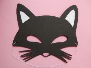 Маска кошек из бумаги и картона