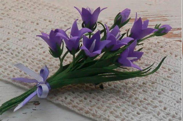 цветок Колокольчик из бумаги