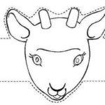 Шаблон маски козленка для вырезания