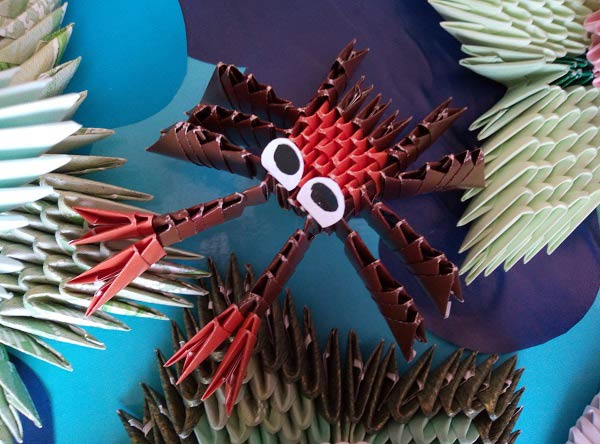 Модульное оригами краба