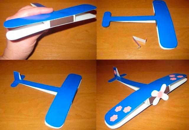 Модель самолета из бумаги