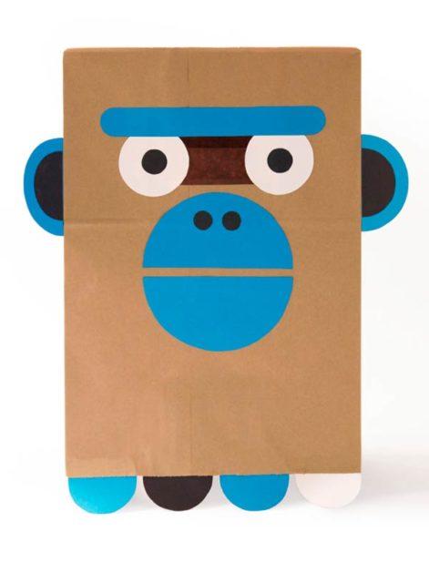 Бумажная маска обезьянки