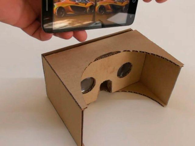 Очки виртуальной реальности из картона