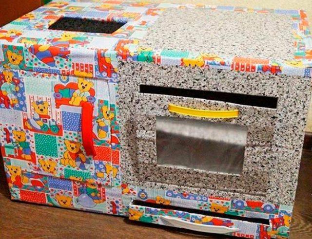 Делаем плиту из коробки