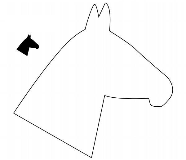 Шаблон лошадки