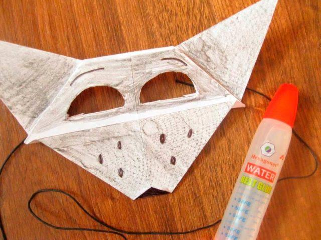 Маска волка оригами
