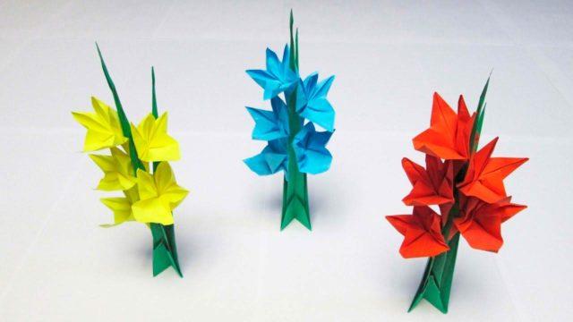 Гладиолусы из бумаги