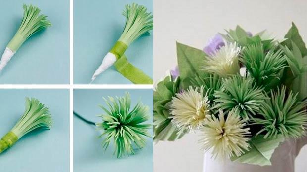Хризантемы из бумаги