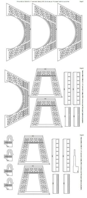 Эйфелева башня схема