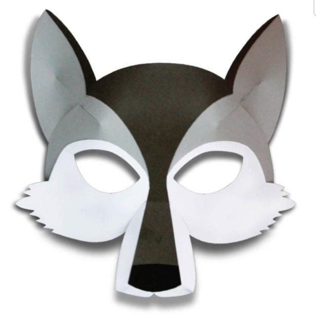 Маска волка картонная
