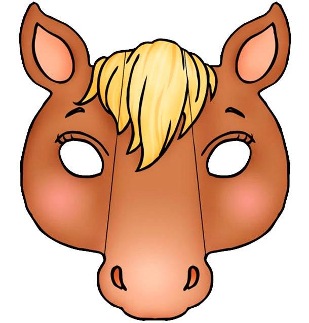 Голова лошадки, шаблон