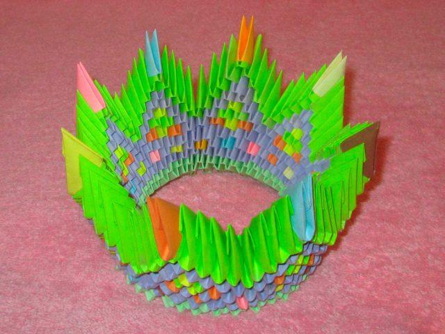 Корона из модулей оригами