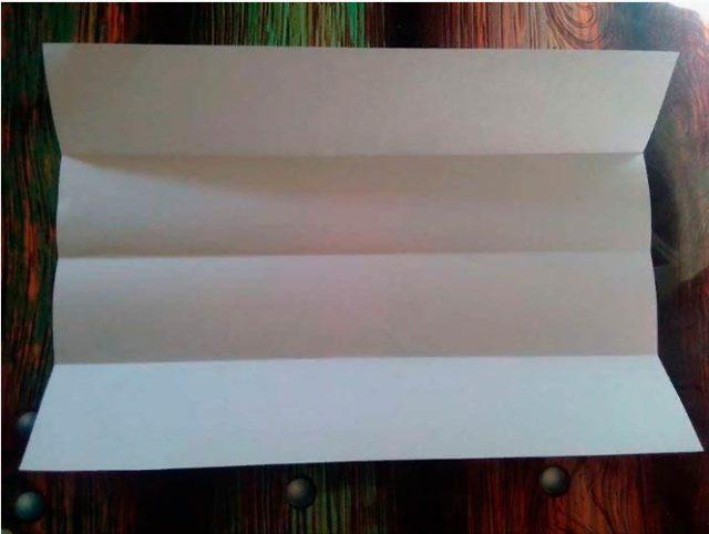 Сборка когтя из бумаги, схема