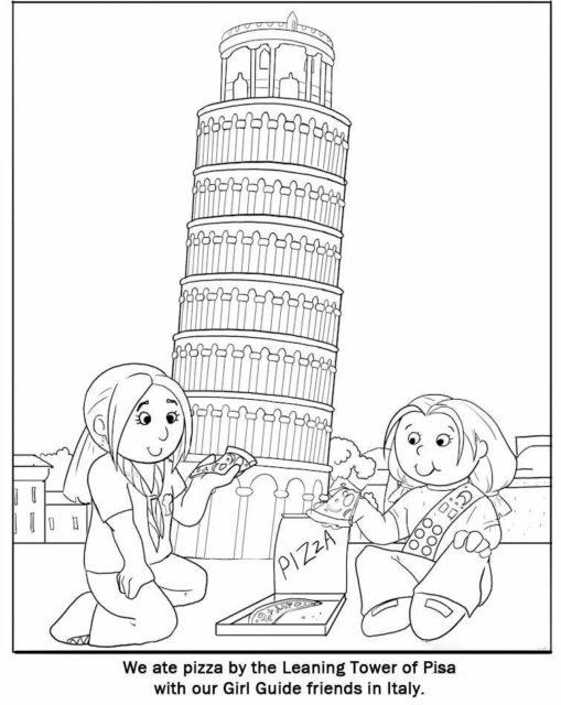 Схема пизанской башни