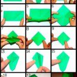 Оригами вазы для цветов
